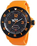 ICE-Watch - Montre homme - Quartz Analogique - Ice-Surf - Orange - Extra-big - Cadran Noir - Bracelet Silicone Orange - DI.OE.XB.R.11