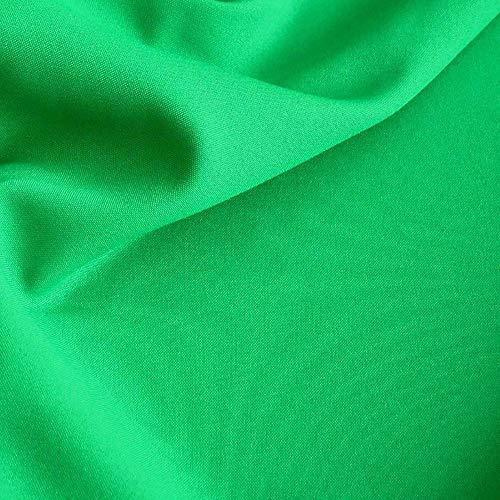 Modestoff / Dekostoff ALLROUND knitterarm universal Stoff - Meterware am Stück (Smaragd-Grün)