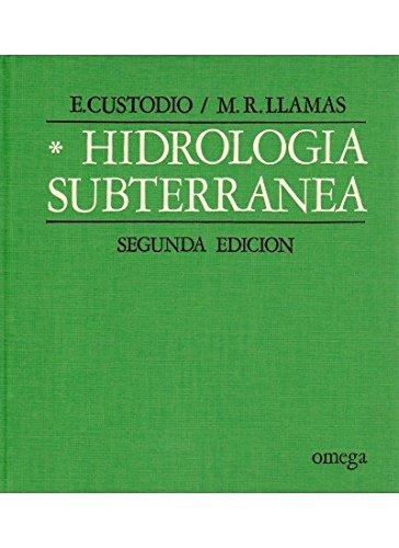 HIDROLOGÍA SUBTERRÁNEA. TOMO I