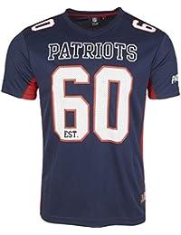 6e0280674 Majestic New England Patriots Moro Est. 60 Mesh Jersey NFL T-Shirt