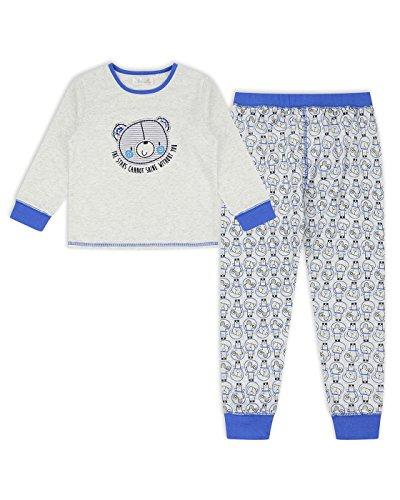 The Essential One - Kinder Jungen Sterne Schlafanzug/Pyjamas - Grau - 5-6 jahre - EOT499 (2 Stück Jungen Pjs)