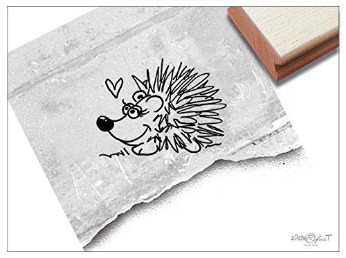 Stempel - Kinderstempel Motiv IGEL - Bildstempel Motivstempel Geschenk für Kinder - Kita Schule Einschulung Basteln Deko - von zAcheR-fineT