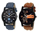 #3: Om Designer Analogue Multicolor Dial Men's Watch-Den-234 (Pack Of 2)