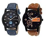 #2: Om Designer Analogue Multicolor Dial Men's Watch-Den-234 (Pack Of 2)