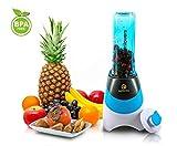 NUTRILOVERS Smoothie-Maker mit Trink-Flasche to GO (BPA-frei) - Mini-Stand-Mixer/Edelstahl-Messer, bis zu 23.000U/min, 0,4PS Motor (300 Watt) - grün