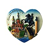 MUYU Magnet Kühlschrankmagnet, St. Petersburg Russland im Ritter-Stil, Reise-Aufkleber, Souvenir, Dekoration für Zuhause und Küche, Russland Kühlschrankmagnet