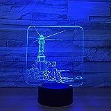 Mm-yedeng Leuchtturm Modell 3D-Led-Nachtlicht 7 Farbe Ändern Stimmung Lampe Usb 3D-Illusion Tischleuchte Für Home Dekorative Als Kid