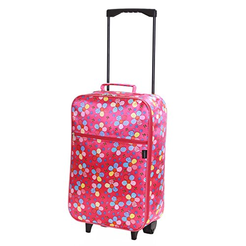 Slimbridge Barcelona bagaglio a mano per bambini con ruote, Rosa