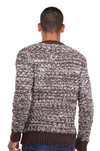 R-NEAL Pullover V-Ausschnitt slim fit Braun