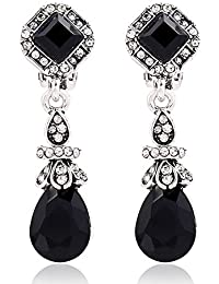 Shining Diva Fashion Jewellery Antique Black Stylish Party Wear Earrings For Women And Girls