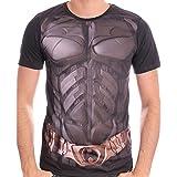 DC COMICS Batman The Dark Knight sublimación Uniforme camiseta de impresión de los hombres (XL, Negro)