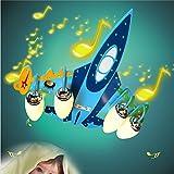 Malovecf Kinderzimmer LED Flugzeug Deckenleuchte Bluetooth Lautsprecher Kinder Schlafzimmer Leuchten Kinder Lichter Deckenleuchte