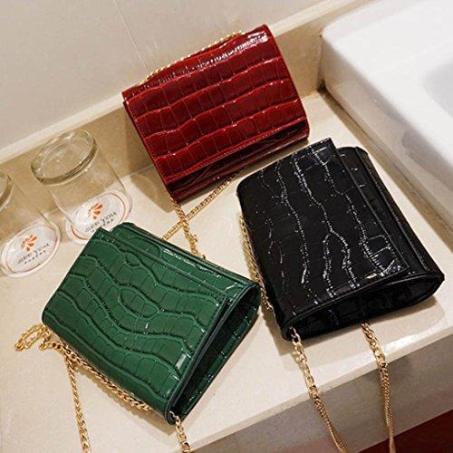 BZLine® Frauen Tasche,Sattel-Tasche,Handtasche Clutch Taschen, 17cm*4cm*15cm Schwarz