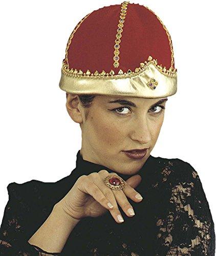 Krone von König/Königin/Papa, in Samt, in Einheitsgröße (Papst Hut Kostümen)