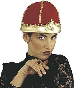 WIDMANN 8462e?Corona de Rey/Reina/Papa, de terciopelo, de talla única