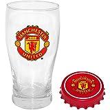 Official Manchester United Bierglas & Flaschenöffner Set