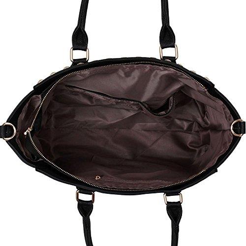 Femmes Sacs à bandoulière Mode Femmes Tote Sacs à main en faux cuir concepteur nouveau Noir/Blanche