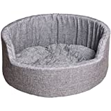 Hiputee Super Soft Dual (Grey) Colour Dog/cat Bed - Large