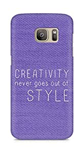 AMEZ creativity never goes out of style Back Cover For Samsung Galaxy S7 Edge