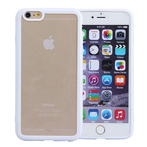 Wkae Case & Cover matériau transparent pour iphone 6 protection acrylique coquille arrière ( Color : Red ) Weiß