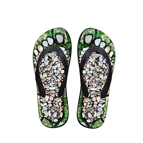 thikin Damen/Girl 's/Boy 's/Herren Cobble Print Einzigartige Brasilien Sommer Hot Zehensteg Flip Flops Strand Sandalen Schwimmbad verschiedenen Styles und Farben Cobble2