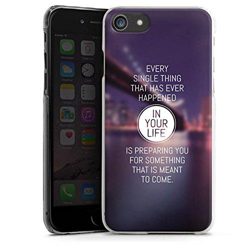 Apple iPhone X Silikon Hülle Case Schutzhülle Weisheit Leben Sprüche Hard Case transparent
