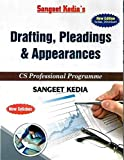 Drafting, Pleadings & Appearances For CS Professional Latest Edition New Syllabus By Sangeet Kedia, Applicable for December 2019 Exam