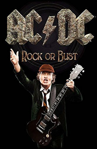 Rock Or Bust / Angus Textil Poster - Dc Poster Flag