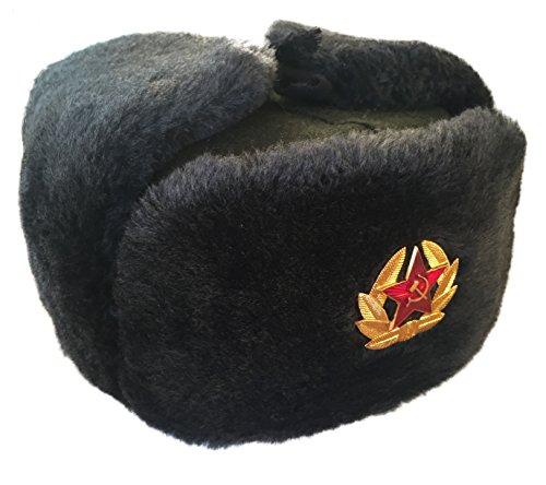 Ganwear(R) Genuine Russian Soviet USSR Army Style Fur Winter Ushanka