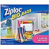 Ziploc Big Bag Double Zipper, Large, 5-Count