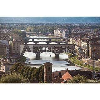 druck-shop24 Wunschmotiv: Florenz Ponte Vecchio Brücken Aussicht #230186507 - Bild auf Leinwand - 3:2-60 x 40 cm / 40 x 60 cm