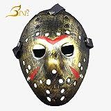 Bine Freitag der 13. Horror Hockey Jason VS. Freddy Maske Halloween Kostüm Prop, Bronze