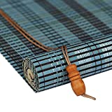 Yuan-Jalousien Rollo Bambus Vorhang - natürliche Nanmu Kordelzug Bambus Vorhang staubdicht und Wasserdicht Hohlen Tee Zimmer Shutter [3 Farben 19 Größen] /& (Farbe : Blue, größe : 140x180CM)