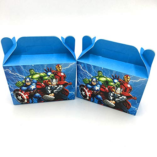 Tyro 6 Stück/Lot The Avengers Theme Candy Box für Kindergeburtstag Party Favors Geschenkboxen Avengers Geburtstag Party Supplies (Avengers Theme Party)