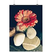 Bellissimo Rosso Fiore Natura Opaco/Lucida Poster A1