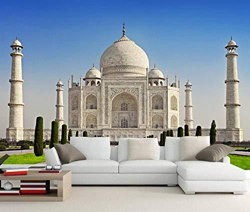 Indien Taj Mahal Moschee Stadt Fototapete, Wohnzimmer Tv Wand Küche Schlafzimmer Restaurant Wand Dekoration 250 * 175cm ()