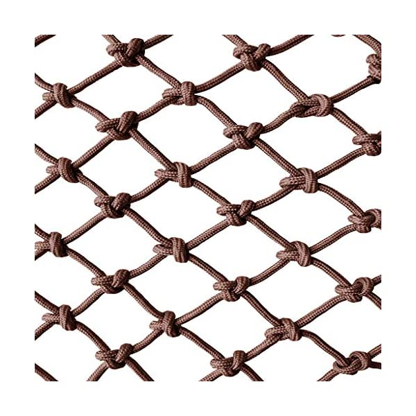 Brown Child safety net protective net balcony stairs anti-fall net kindergarten color decorative net fence network Width 1/4M Length 1M /9M Hand braided traditional structure (Size : 2 * 9)  [Protect children's safety]: Many children fall from the building, let us understand that the safety of children can not be ignored. [Polyester knotless woven mesh]: The mesh surface has large pulling force, and the double needle has no knot woven mesh hole, so that the mesh has stronger impact resistance. [wire diameter 8MM, mesh spacing 6CM]: Escort for baby safety.(Others available in our shop) 1