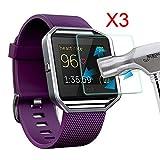 Tping 3x Fitbit Blaze Écran en verre trempé Film de protection avant Protection invisible pour Fitbit Blaze intelligent Fitness Montre
