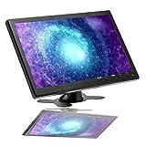 Camecho - Monitor a colori TFT LCD da 10,1 pollici, Full HD 1024 x 600 BNC / AVI / VGA / ingresso HDMI, compatibile con PC, DVD, TV, telecamera di sorveglianza e telecamera di backup
