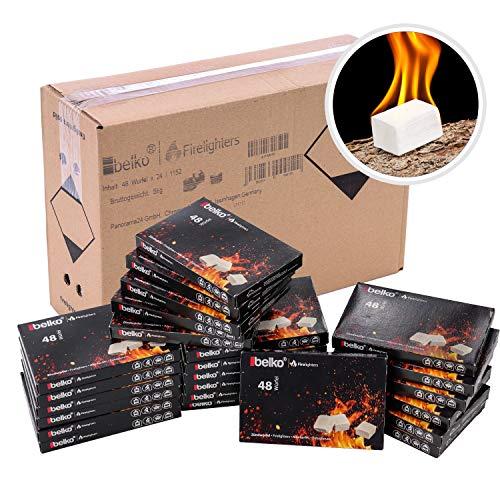 BELKO 1152x Anzündwürfel Kaminanzünder Kohle-Anzünder BBQ-Grillanzünder Ofenanzünder (Ofen-anzünder, Anzündhilfe)