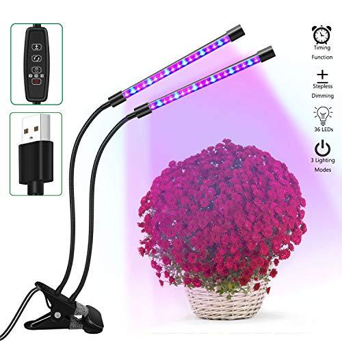 ZEMOJ led lámpara plantas 36 LED 18W Plantas Lampara con Rojo Azul Luz Eje flexible de 360 grados lampara cultivoados LED para plantas de interior flor vegetal