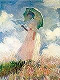 1art1 52147 Claude Monet - Frau Mit Sonnenschirm 1886 Poster Kunstdruck 80 x 60 cm