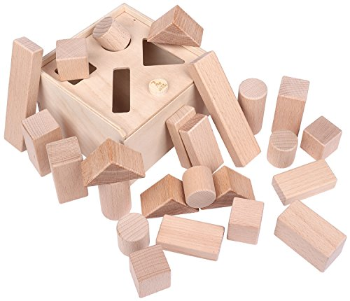 CreaBLOCKS 2-in-1 Steckbox / Formensortierspiel / Sortierbox Baby – Bauklötze - 7