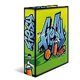 Herma 7154 Karton Motivordner DIN A4 Serie Graffiti, Design Fresh, 70 mm breit, 1 Ordner, mit Innendruck