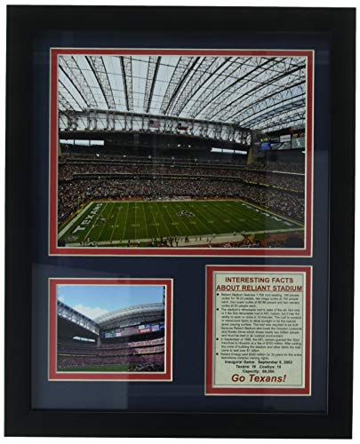 Legenden Sterben Nie Houston Texans Stadion gerahmtes Foto Collage, 11x 35,6cm