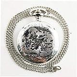 Hemore Weihnachtsnacht tailliert Vintage Antik Runde Dial Quarz Taschenuhr Halskette Anhänger Uhr für Männer Frauen