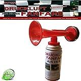 Leonado Vicenti Air Horn Druckluftfanfare extrem laut, Ideal für Sportveranstaltungen oder als Notsignal, Tonreichweite bis zu 1500 Metern, Menge:1 Stück