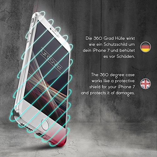 Urcover® Apple iPhone 6 Plus / 6s Plus Handy-Hülle RUNDUM-SCHUTZ Ultra Slim 360 Grad Schwarz Full Body Touch Case Mandala Design Schale Handy-Tasche Crystal Clear Smartphone Zubehör Cover Schwarz