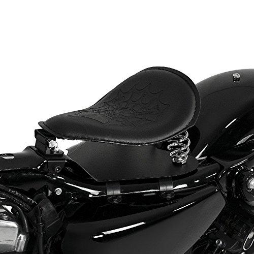 Asiento Solo de muelles SG8 negro Yamaha XVS 1100 A Drag Star Classic/Drag Star, XVS 1300 A Midnight Star/Custom, XVS 650 A Drag Star Classic/Drag Star, XVS 950 A Midnight Star