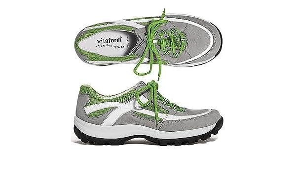 Vitaform Active Damen Sneaker echt Leder Mesh Einsätze